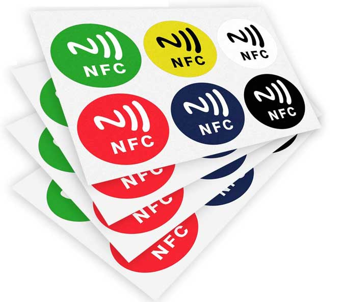 nfc tags in all sorts of colors