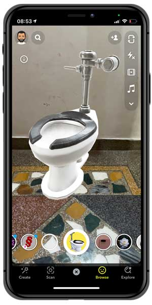 toilet bowl snapchat lens