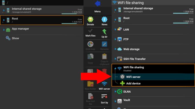 explore wifi server