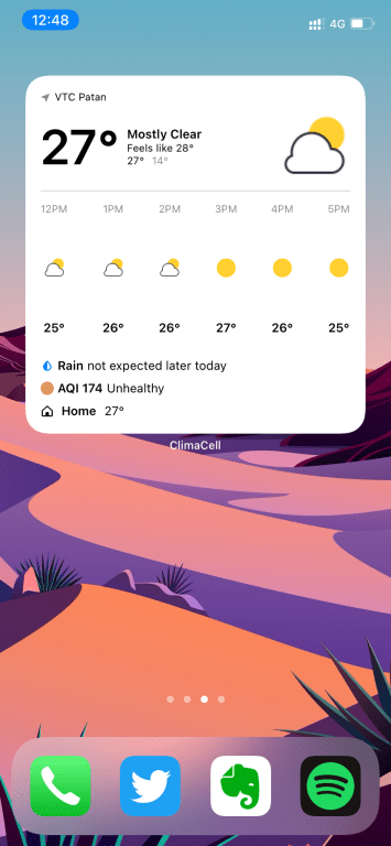 climacell ios 14 weather widget