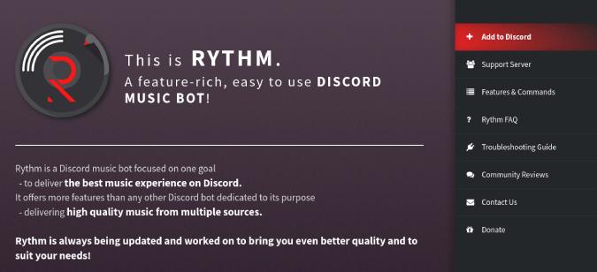 Rythm Offcial Home Page