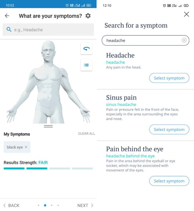 Ada self diagnosis app