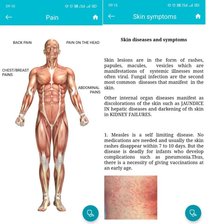 self diagnosis app