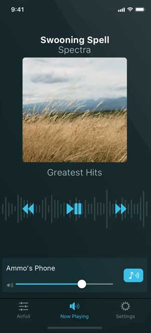 airfoil- stream music from your computer to your iPhone