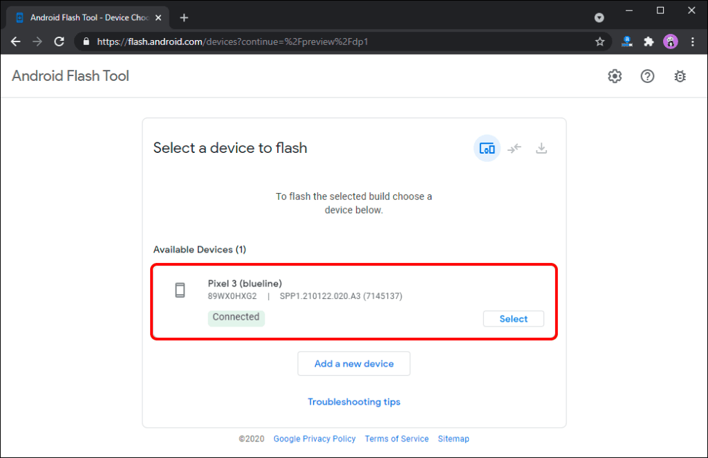 android flash tool for android 12