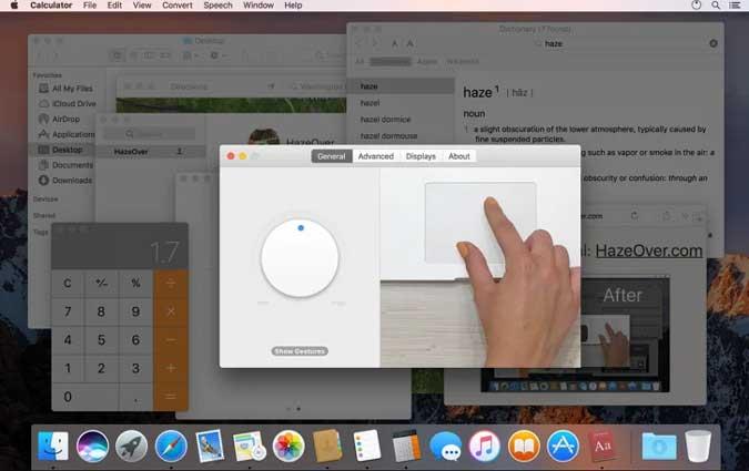 haze over app to focus on active window on mac