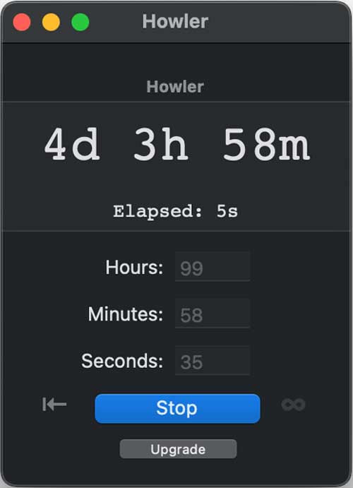 howler app for mac- countdown apps for mac