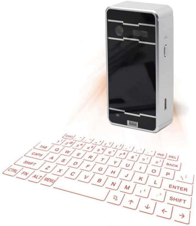 laser keyboard projectint qwerty layout