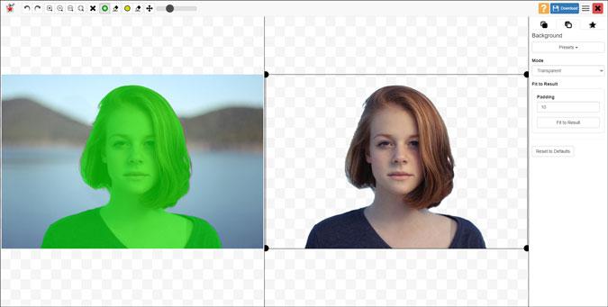 remove image background using photoscissors