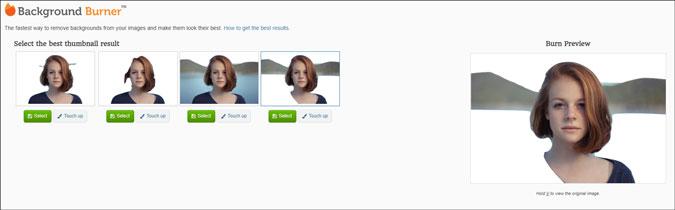 background burner online background removal tool