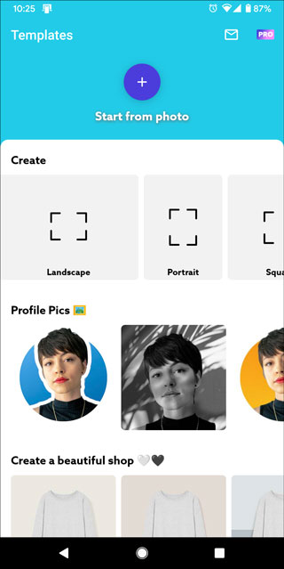 photoroom for android homescreen