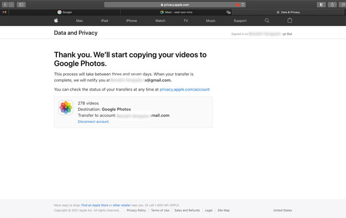 how to transfer photos from iCloud to Google Photos