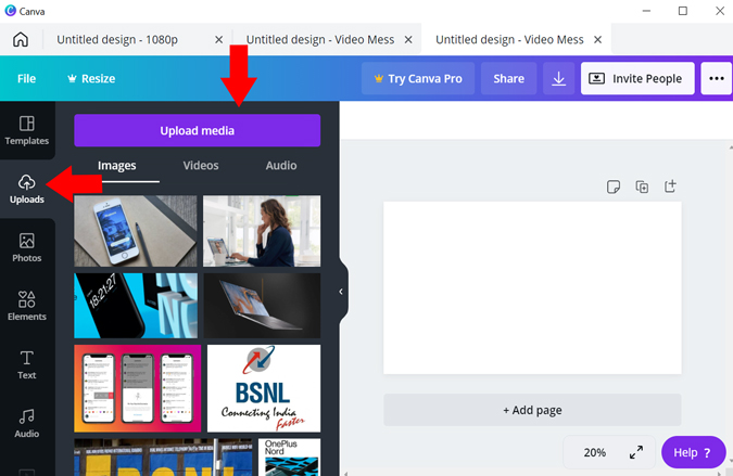 Add border to videos using Canva