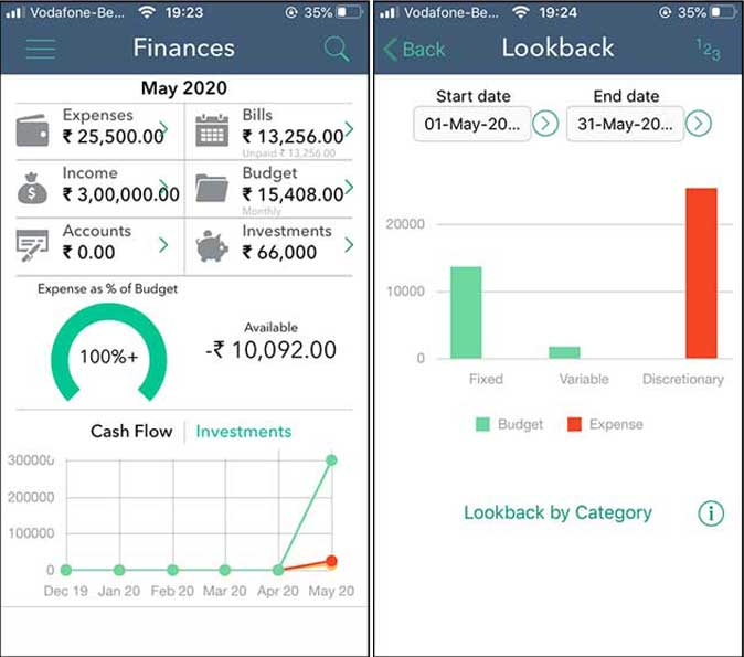 finances app- home budget app for iphone