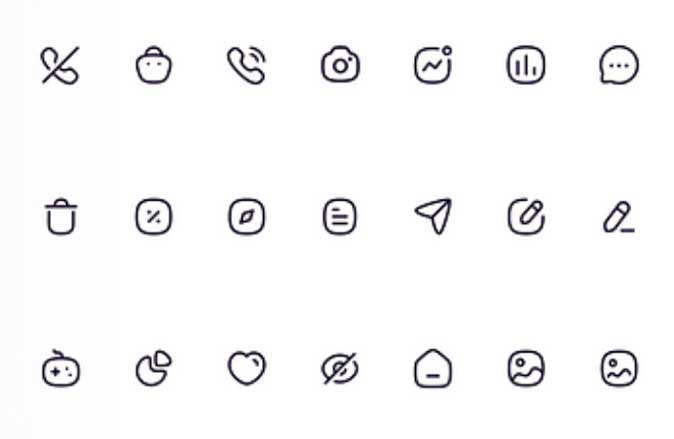 iconly- rounded edges icons for iphone