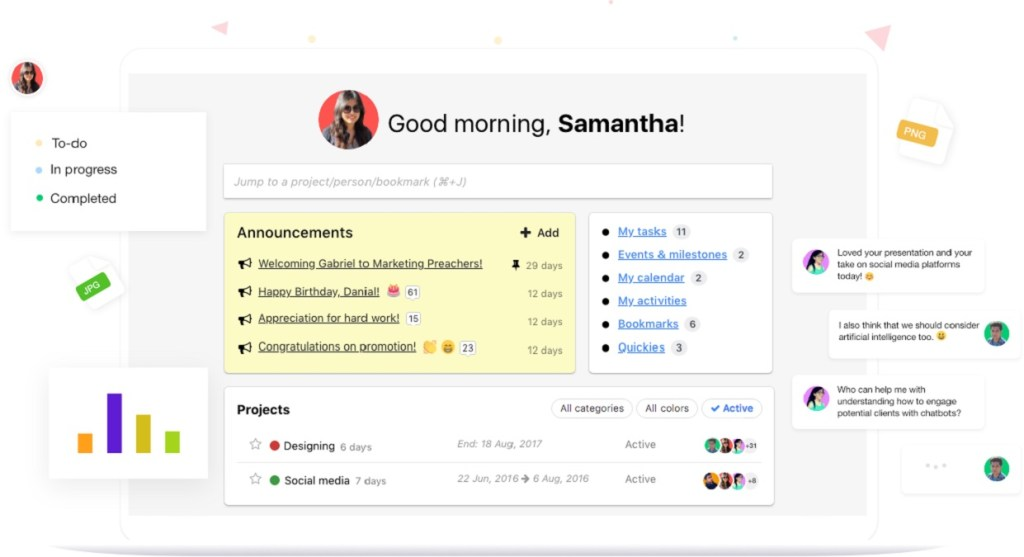 ProofHub project management application interface.