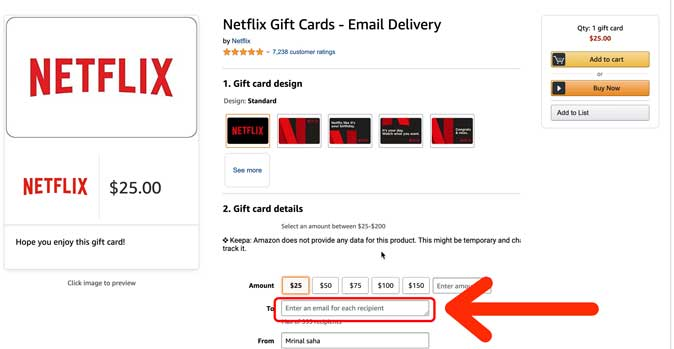 buy a gift card to setup netflix without credit card
