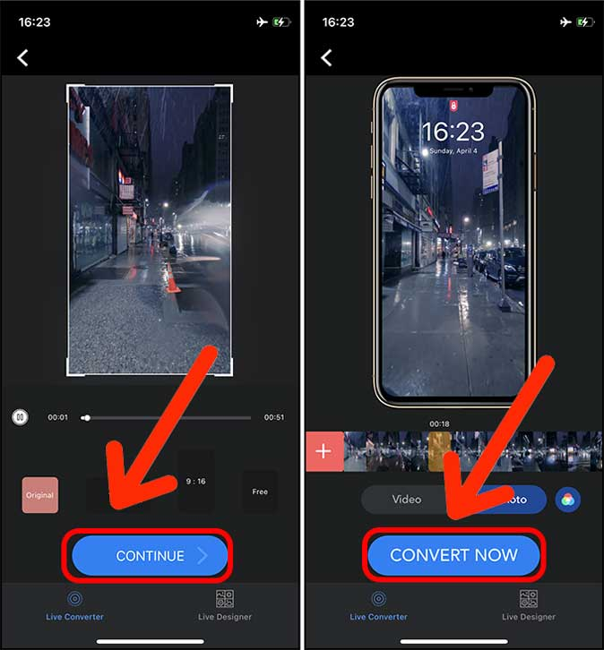convert video to live photo now