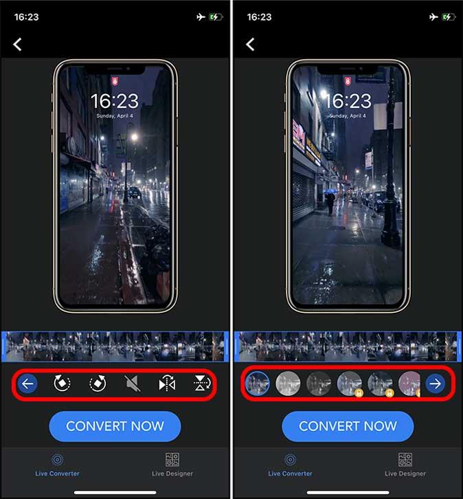 make adjustments on live video