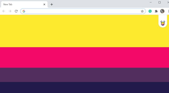 Color Tab new tab Chrome extension