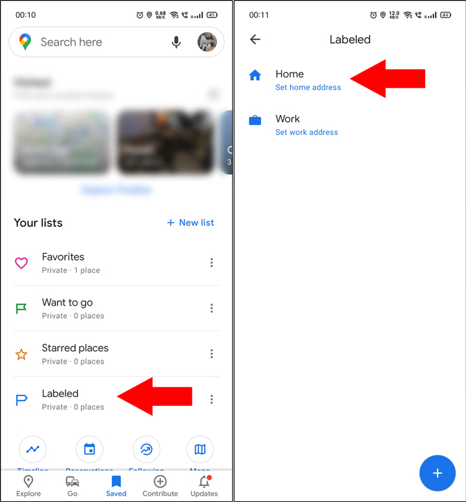 Open Labeled locations in Google Maps