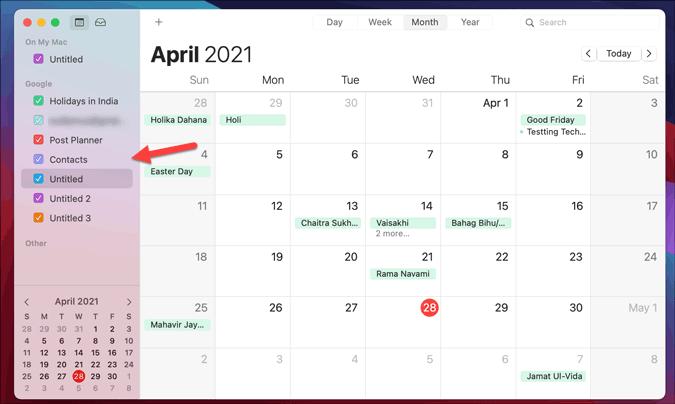 get google calendar on mac via apple calendar
