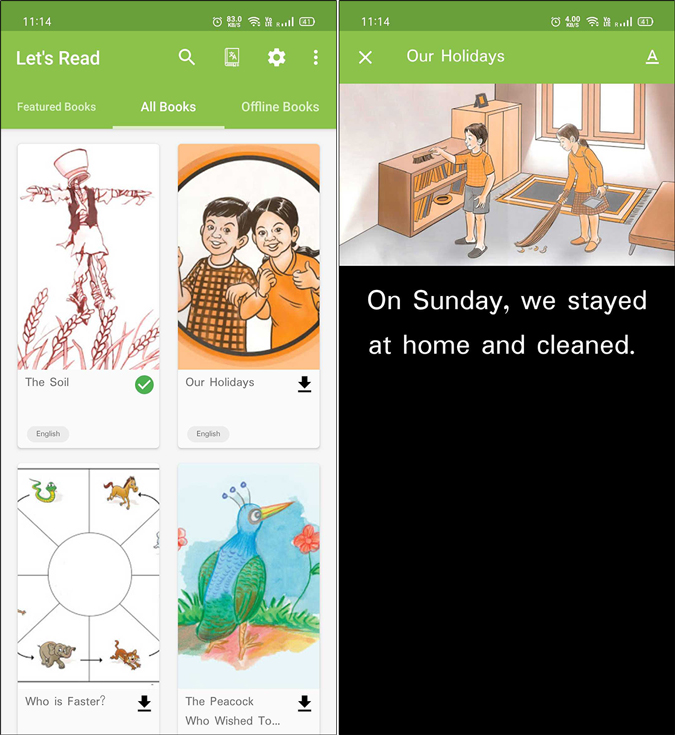 Lets Read English reading app for kids
