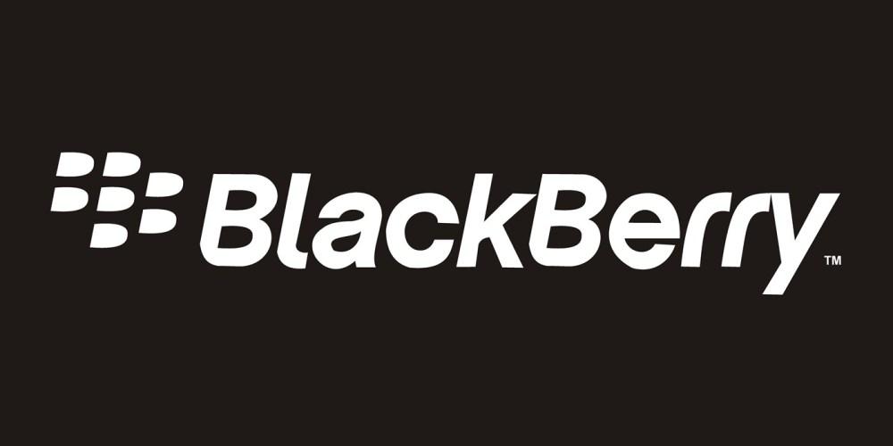 blackberry logo black and white