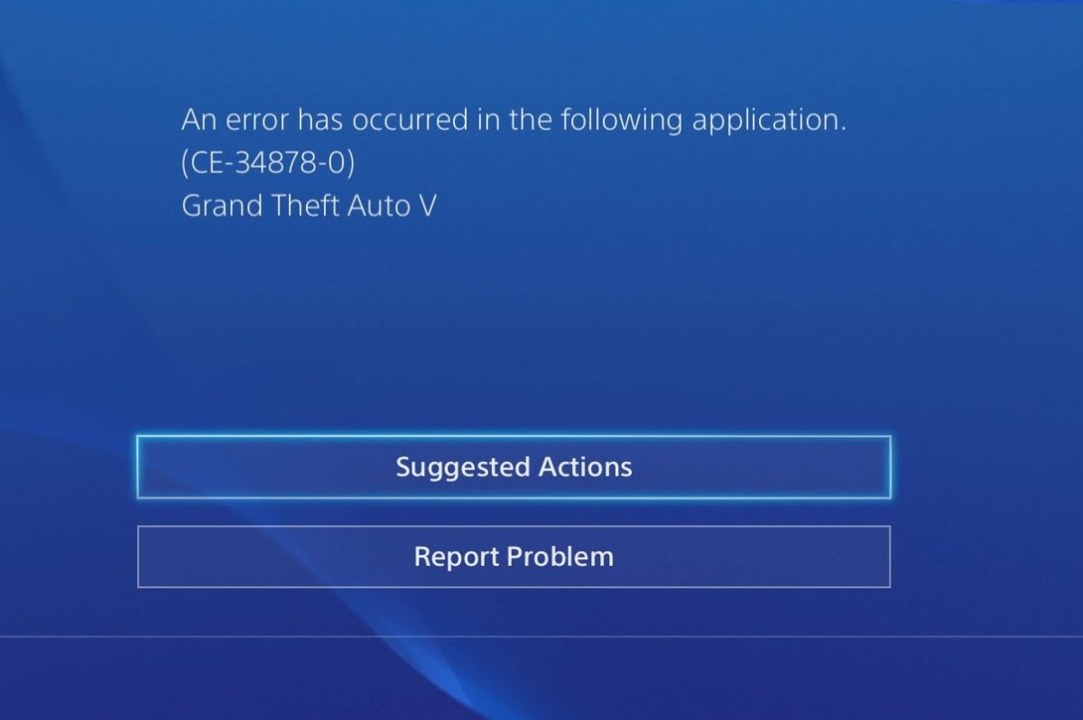 How To Fix PS4 Error Code CE-34878-0