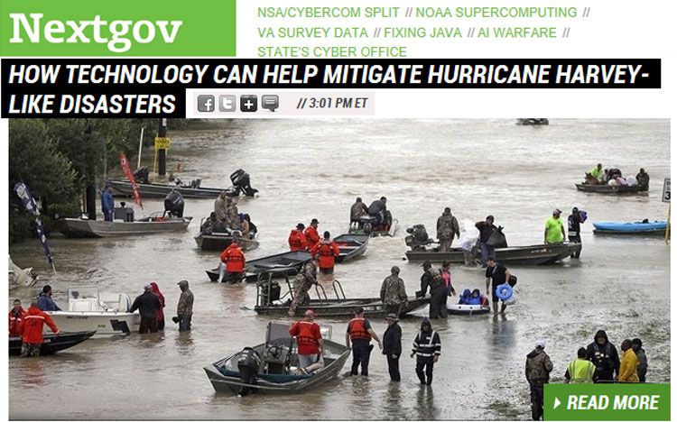 NextGov Explores How Technology Can Help Mitigate Hurricane Disasters