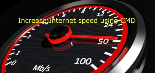How to increase internet speed using cmd