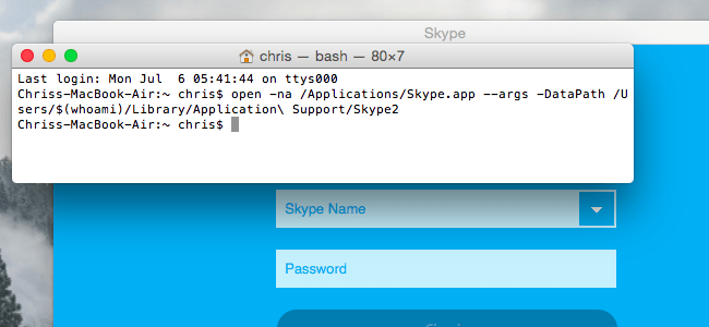 Multiple skype accounts