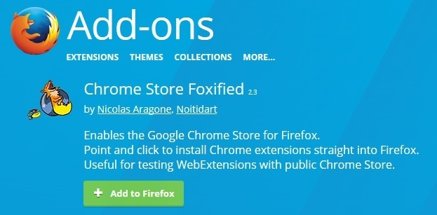 chrome store foxified