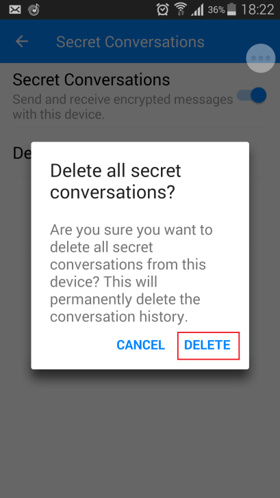 delete secret conversation 2