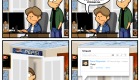 Google+ and Facebook comic