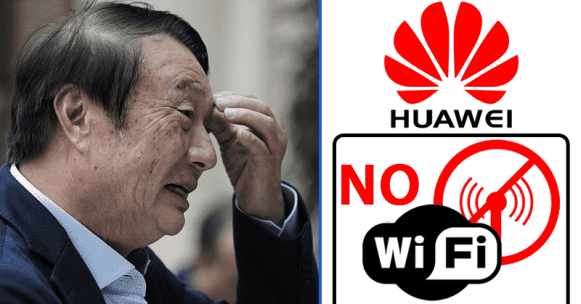 Huawei Ban flipped side problem
