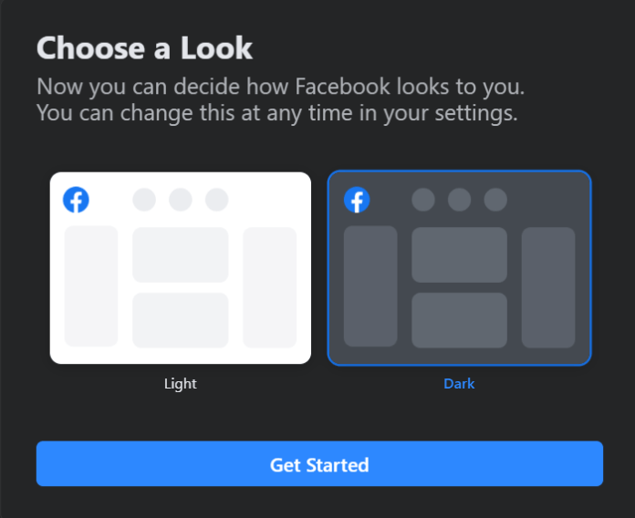 Facebook new ui design 3