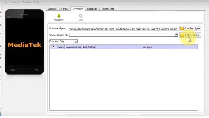 click on scatter loading file