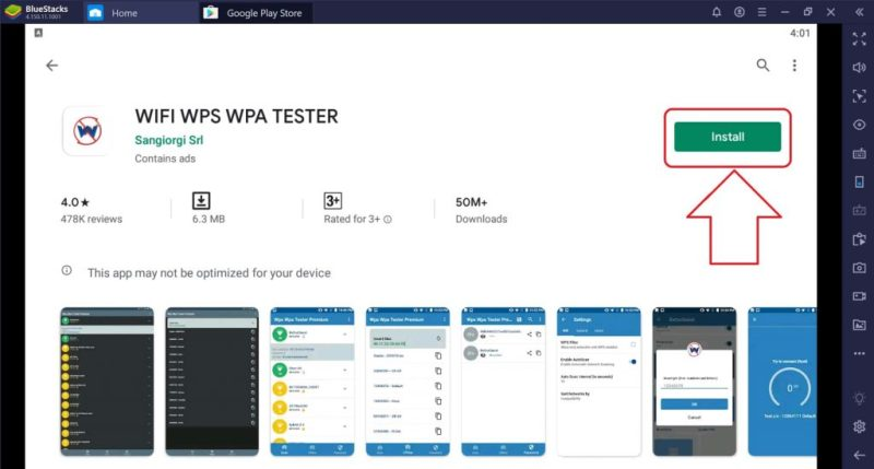 click on install button 1 1024x549 - Download WPS WPA Tester for PC