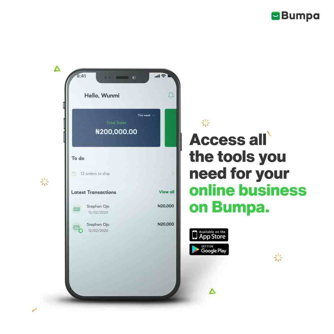 Manage your online business on Bumpa