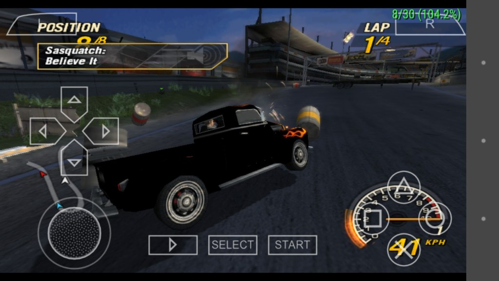 FlatOut Head on is one of the best PPSSPP Games download on android smartphone