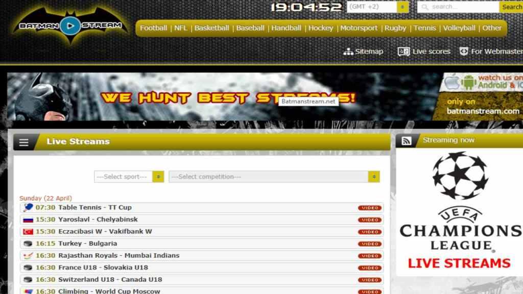 batman live stream website to watch live sports