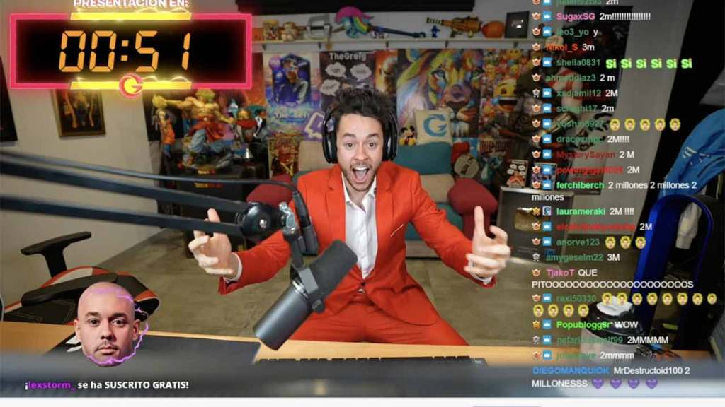 Thegrefg has broke the record and receive 2.4 million concurrent viewers on twitch