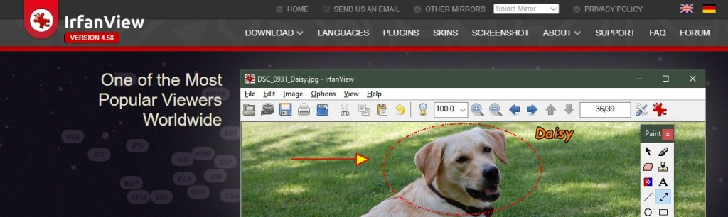 Irfan View is one of the best tools to improve image quality
