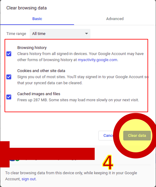 Delete Your search history frome google chrome