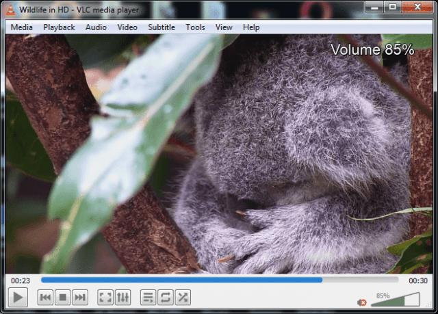 "VLC Keyboard Shortcuts: ""CTRL+UP/DOWN to increase/decrease volume"