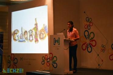 Swaathi delivering the Keynote