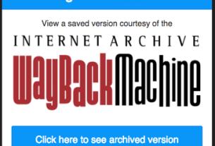 Wayback Machine este o extensie de Chrome ce încarcă paginile cu erori din webcache
