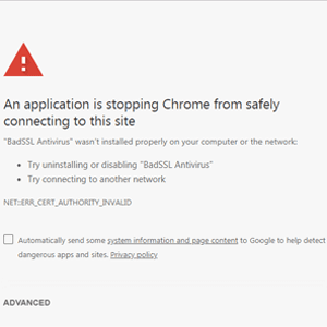 google chrome man in the middle attack error