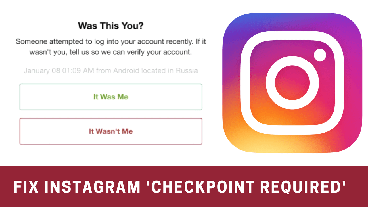 How to Fix 'Checkpoint Required' Error on Instagram - Techzy